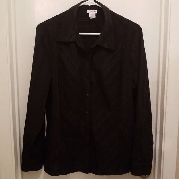 East 5th Tops - East 5th Black Stripe Button Down Blouse